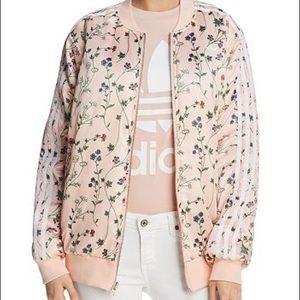 Adidas Reversible Floral Print Bomber Jacket